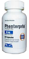 Phenterprin medication bottle